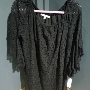 Fever NWT Black Lace Dress or Tunic - Size L